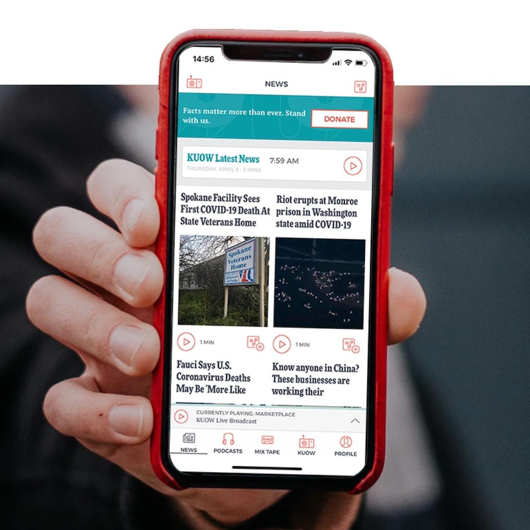 KUOW App Mobile Hero